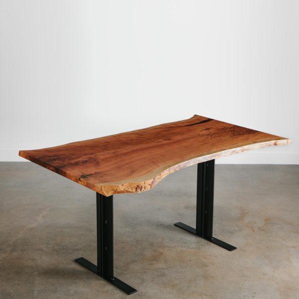 Luxury cherry live edge bar table