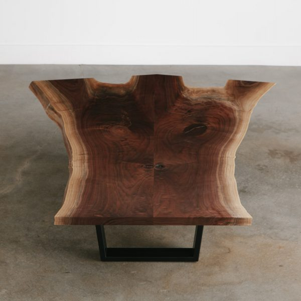 Handmade live edge walnut coffee table