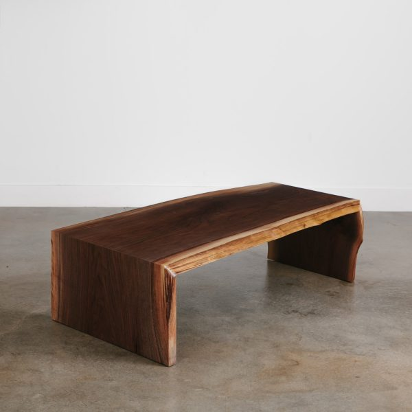 Modern live edge walnut coffee table high end furniture
