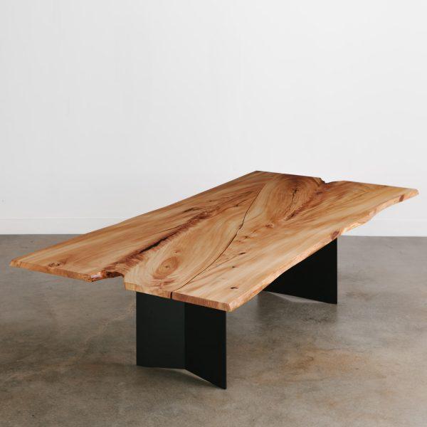 Luxury live edge elm dining table