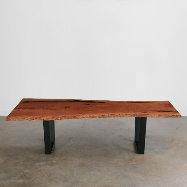 Live edge cherry table with sled base