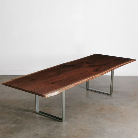 Walnut live edge modern conference table
