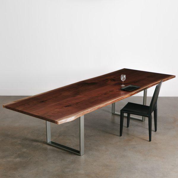 Luxury walnut live edge dining table