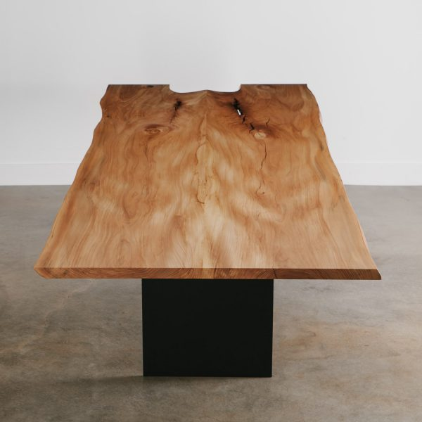 Bookmatched live edge large family dining table