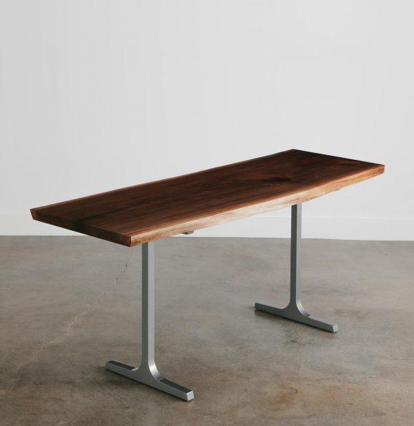 Live edge walnut standing desk chicago