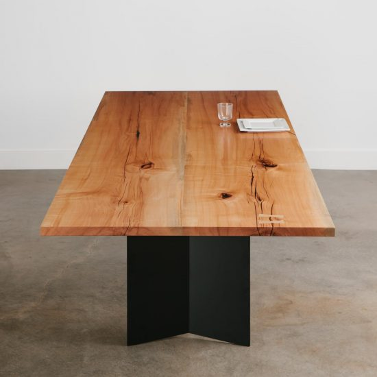 Luxury modern hardwood dining table