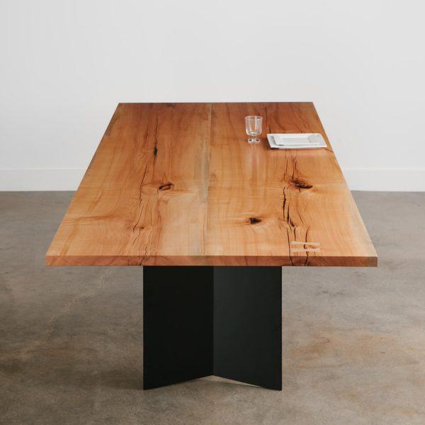 Luxury modern hardwood dining table