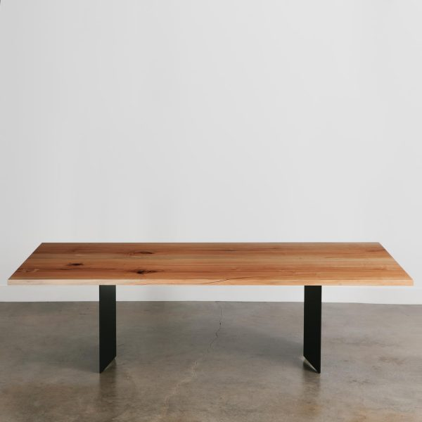 Custom modern maple hardwood dining table