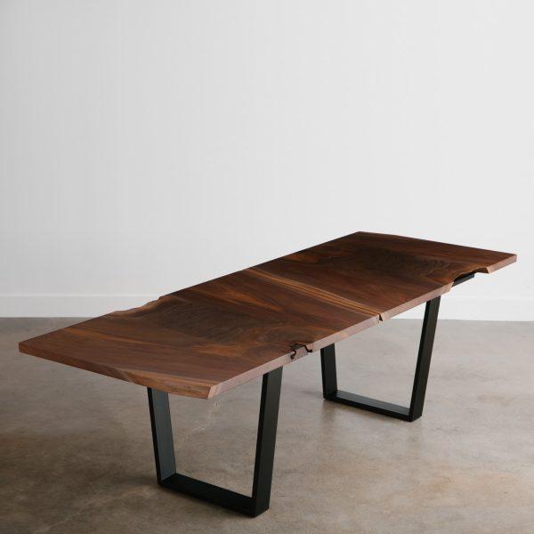 Luxury live edge walnut dining table