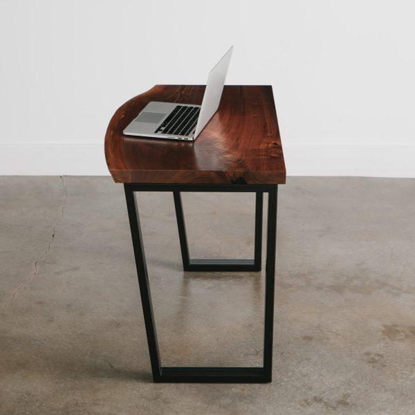 Luxury modern live edge small walnut desk