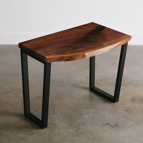 Modern contemporary live edge walnut desk