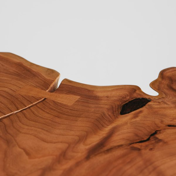 Custom handmade live edge cherry slab