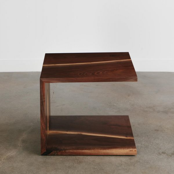 Handmade walnut side table trendy