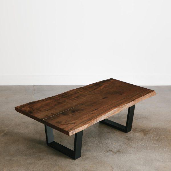 Modern live edge ebonized maple coffee table trendy