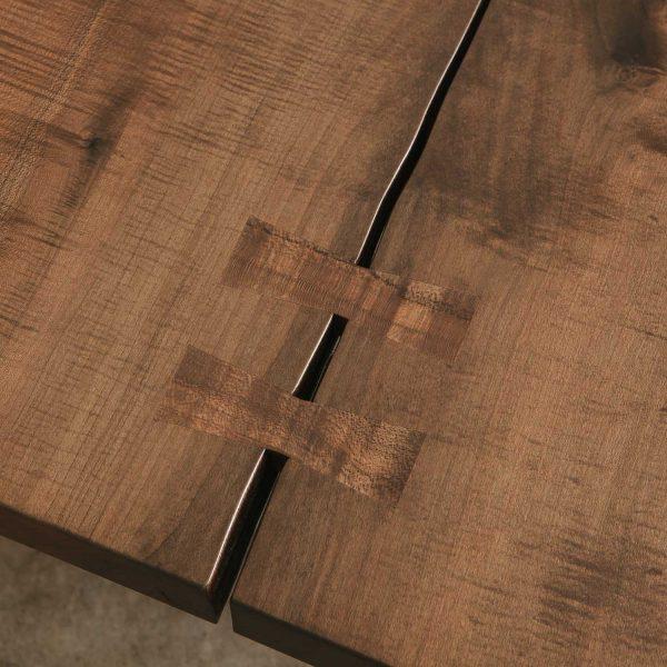 Maple slab with custom butterfly keys