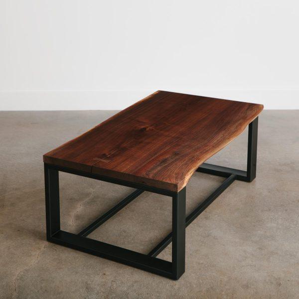Live edge walnut wood coffee table
