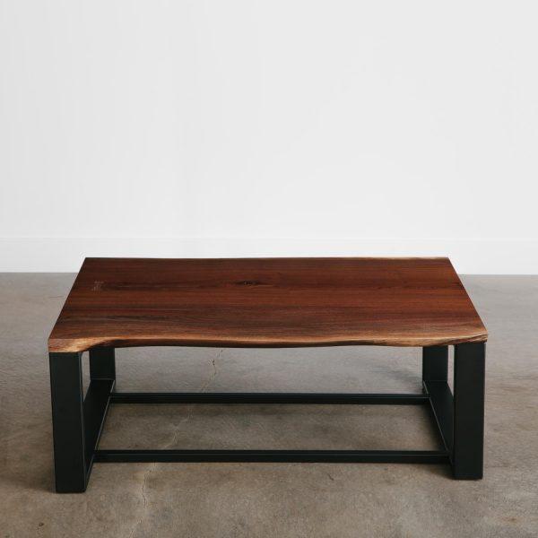 Custom walnut tree turned into live edge coffee table