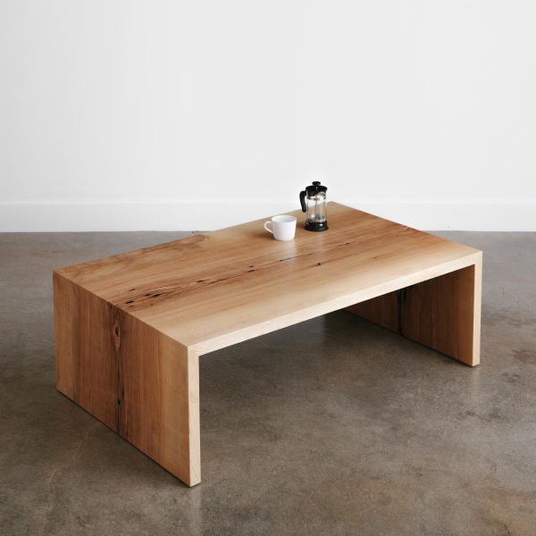 Live edge modern waterfall coffee table