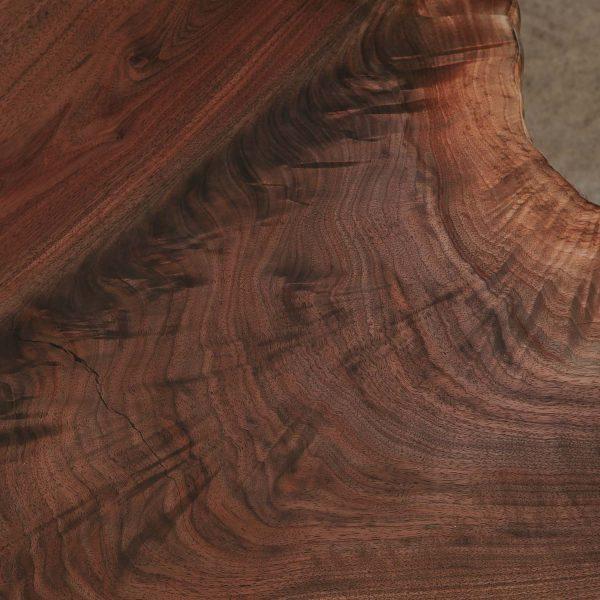 Figured walnut wood grain chic brown color Elko Hardwoods