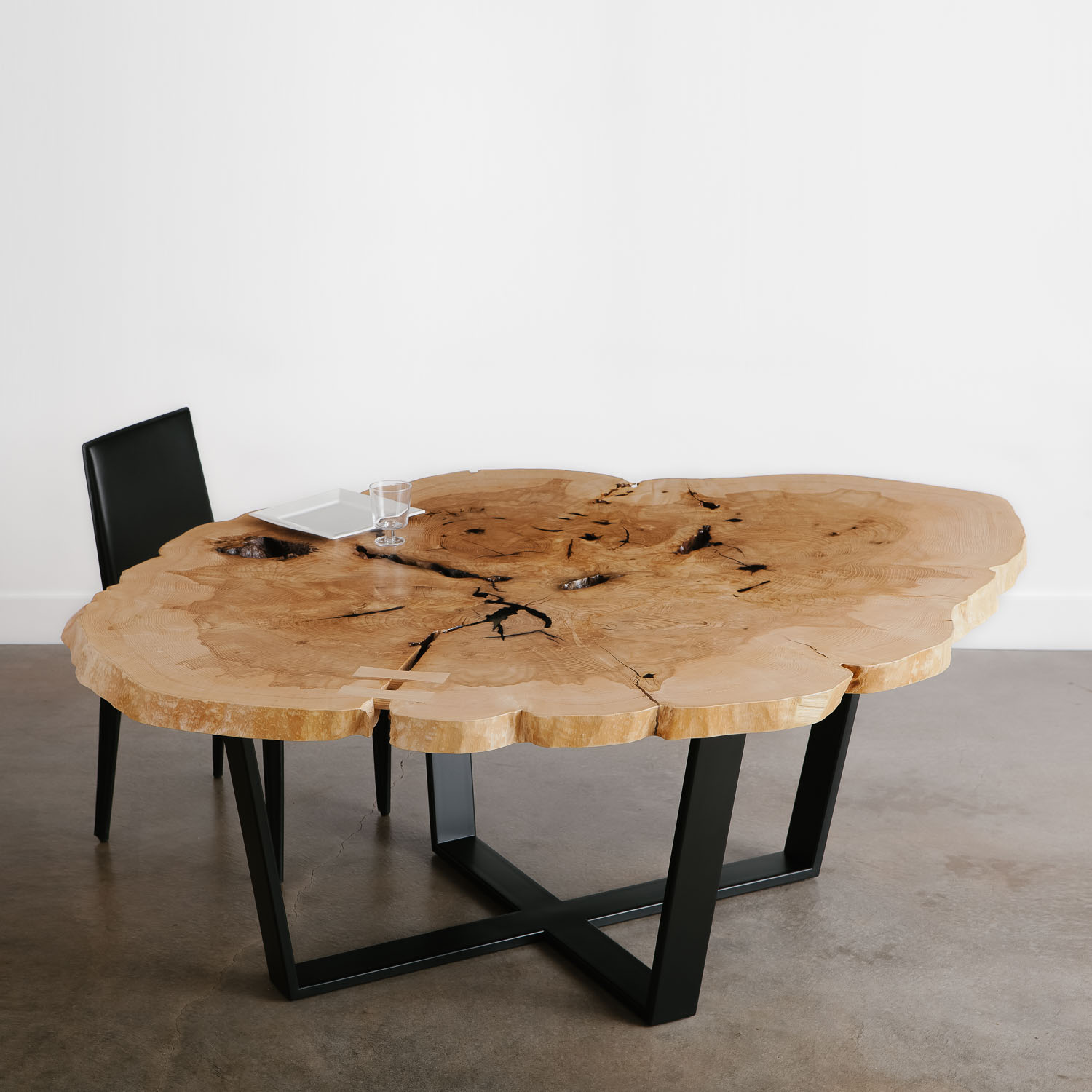 Ash Dining Table No 125 Elko Hardwoods Modern Live Edge Furniture Dining Coffee Tables Desks Benches