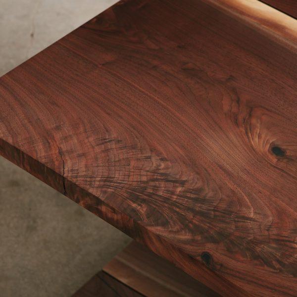Figured live edge walnut slab contemporary