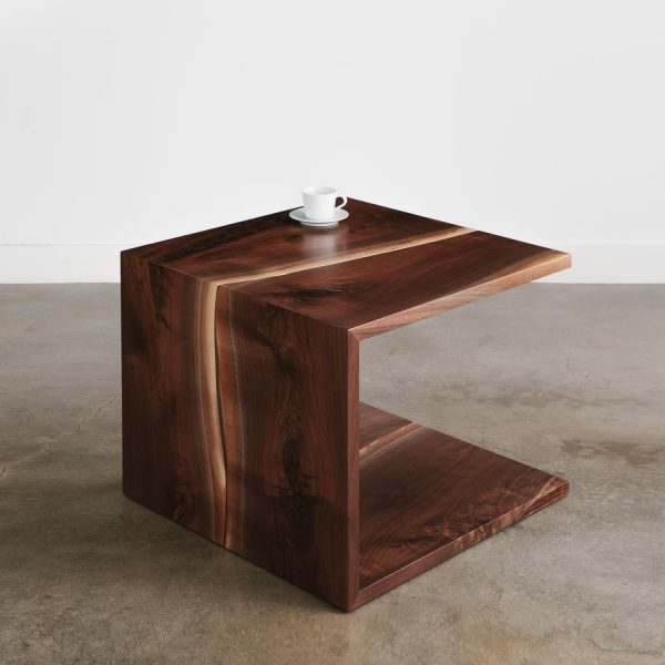 Walnut tree turned into waterfall live edge coffee table