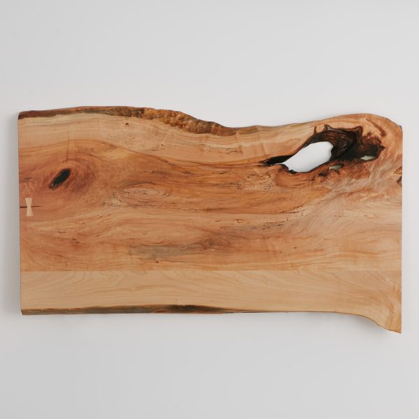 Handmade live edge maple slab desk