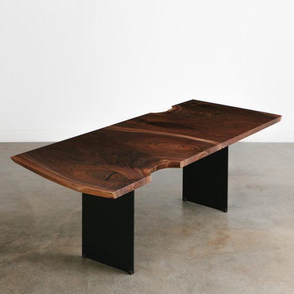 Black walnut slab live edge luxury dining room table