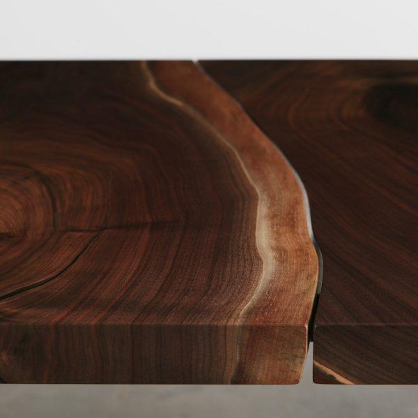 Handmade live edge walnut joined slabs