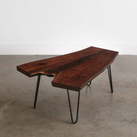 Handmade walnut hairpin coffee table