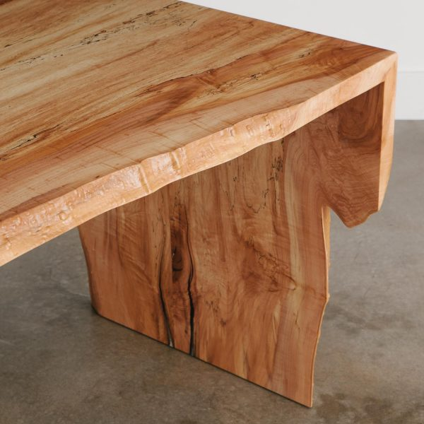 Contemporary waterfall maple desk