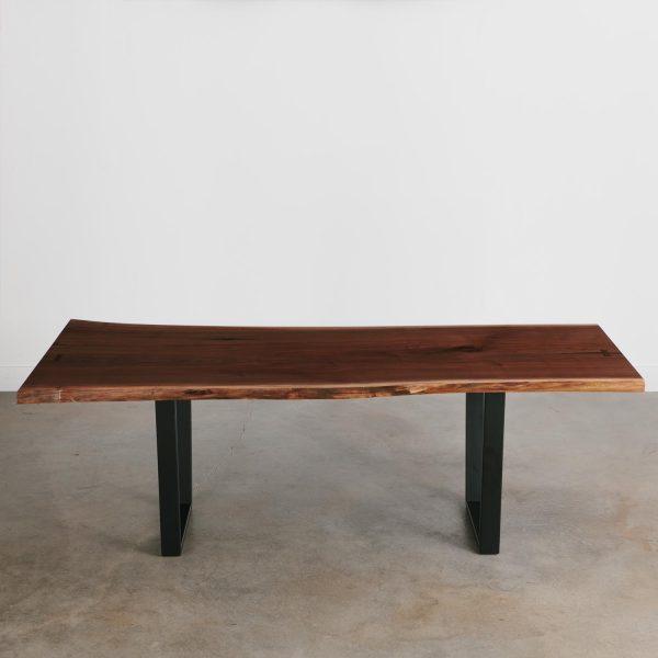 Live edge slab walnut dining room table