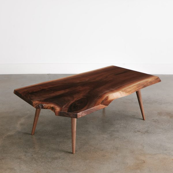 Mid century modern live edge coffee table