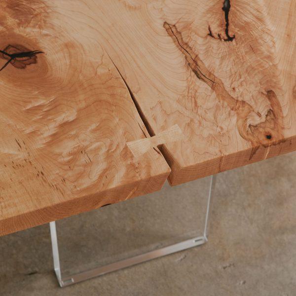 Maple wood grain with butterfly joint Elko Hardwoods