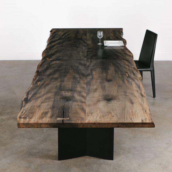 Modern sleek neutral custom dining table