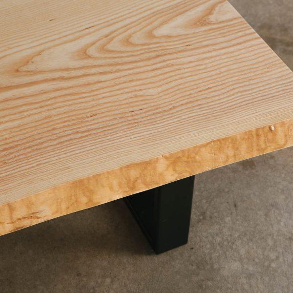 Live edge ash slab wood grain Elko Hardwoods