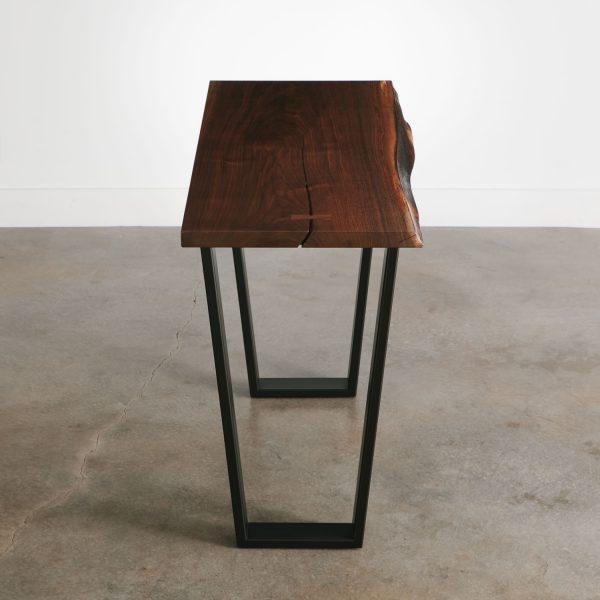 Modern walnut console table handmade