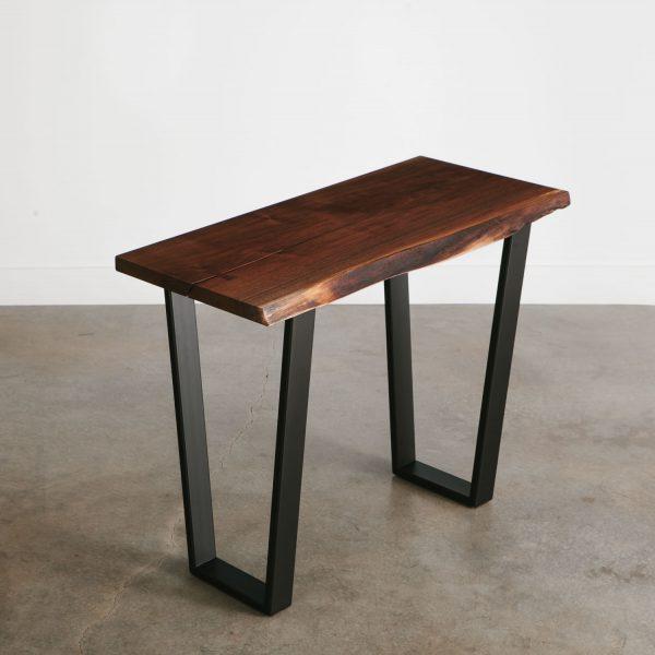 Live edge walnut tree tall console table