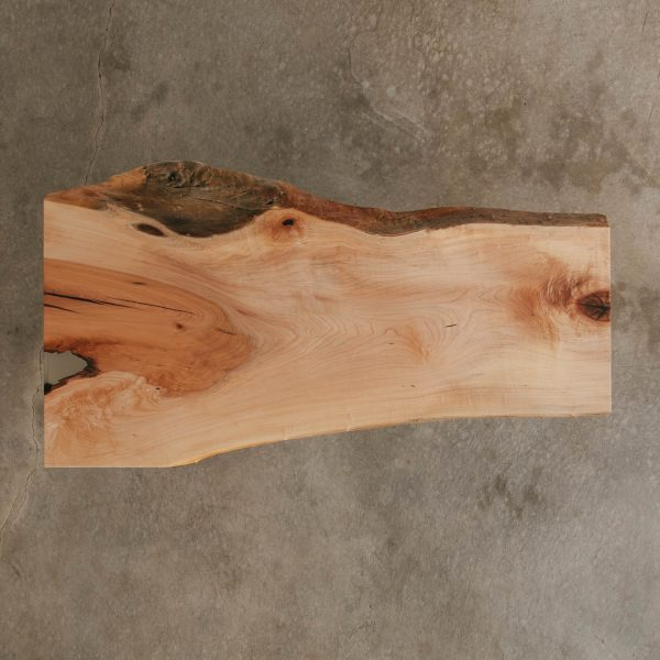 Contemporary live edge maple tree slab