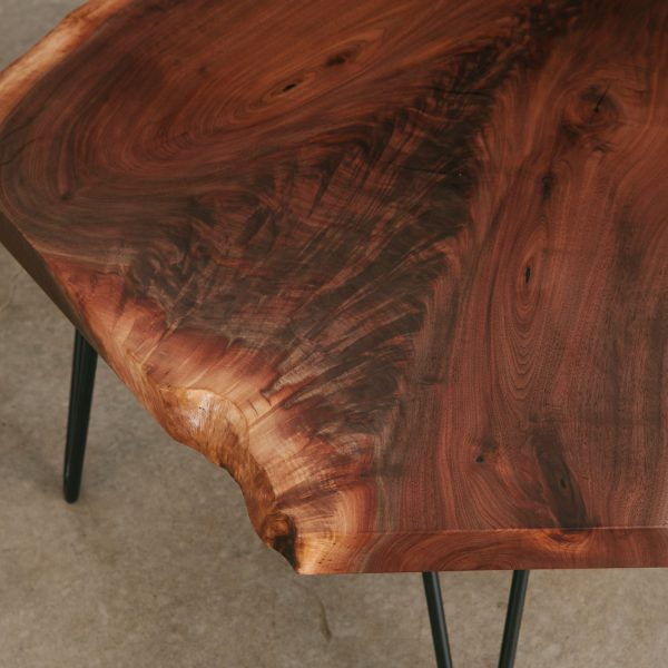 Walnut figured crotch grain slab Elko Hardwoods