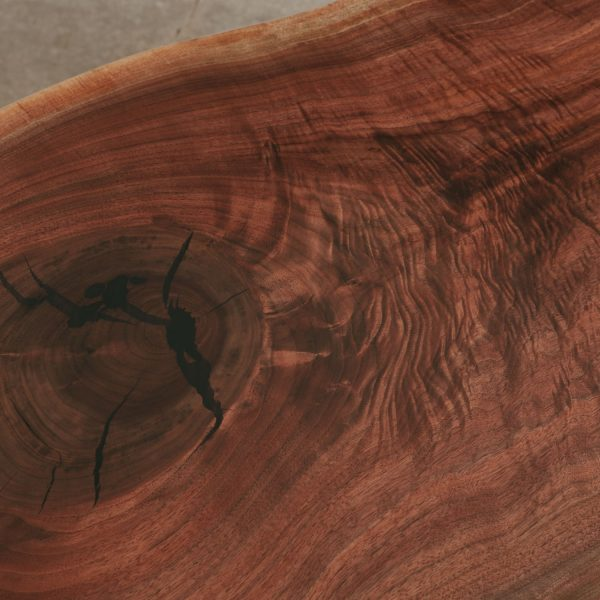 Figured live edge walnut with slab silky matte finish Elko Hardwoods