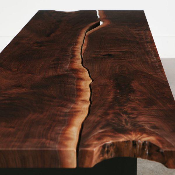 Live edge walnut slabs joined Elko Hardwoods