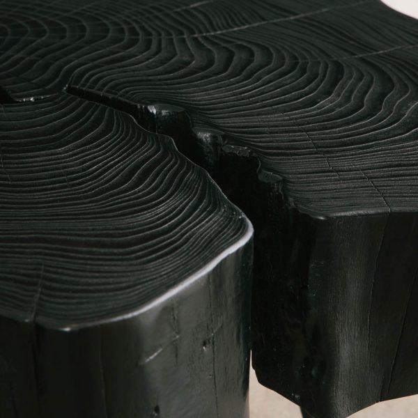 Blackened wood with matte finish Elko Hardwoods