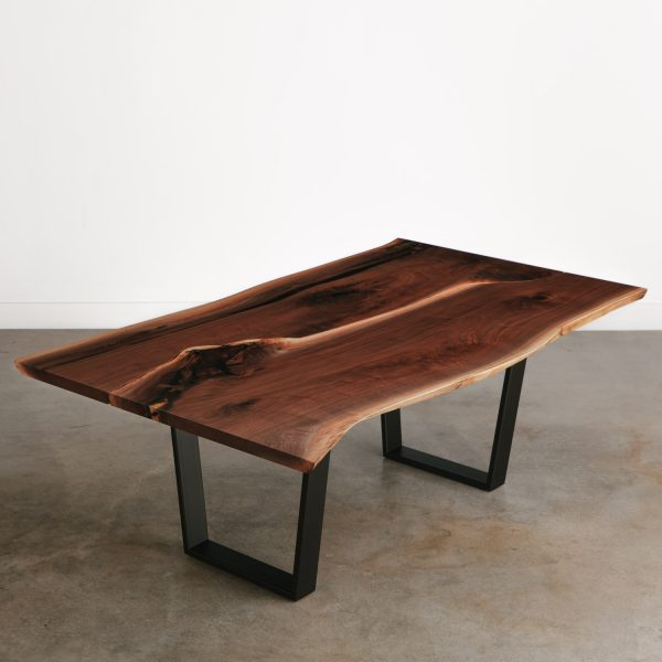 Modern live edge walnut corporate conference table
