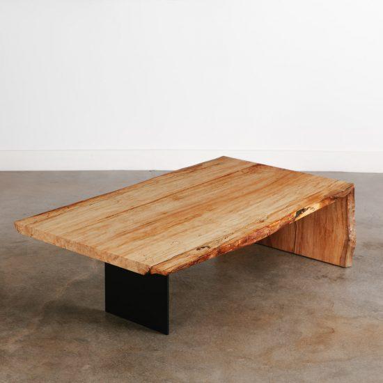 Custom live edge maple coffee table Elko Hardwoods