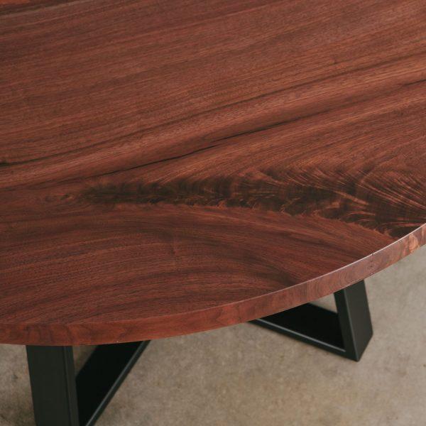 Custom round live edge table Elko Hardwoods