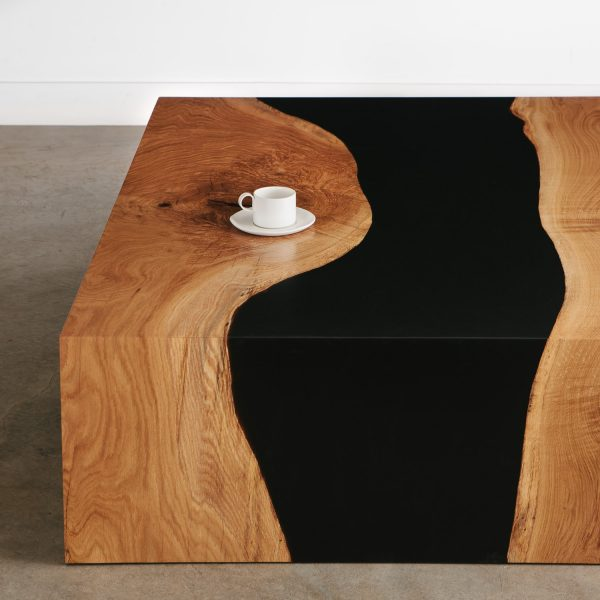 Modern live edge river table for luxury homes
