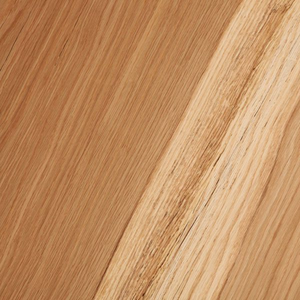 Detail of oak wood grain with clear matte finish