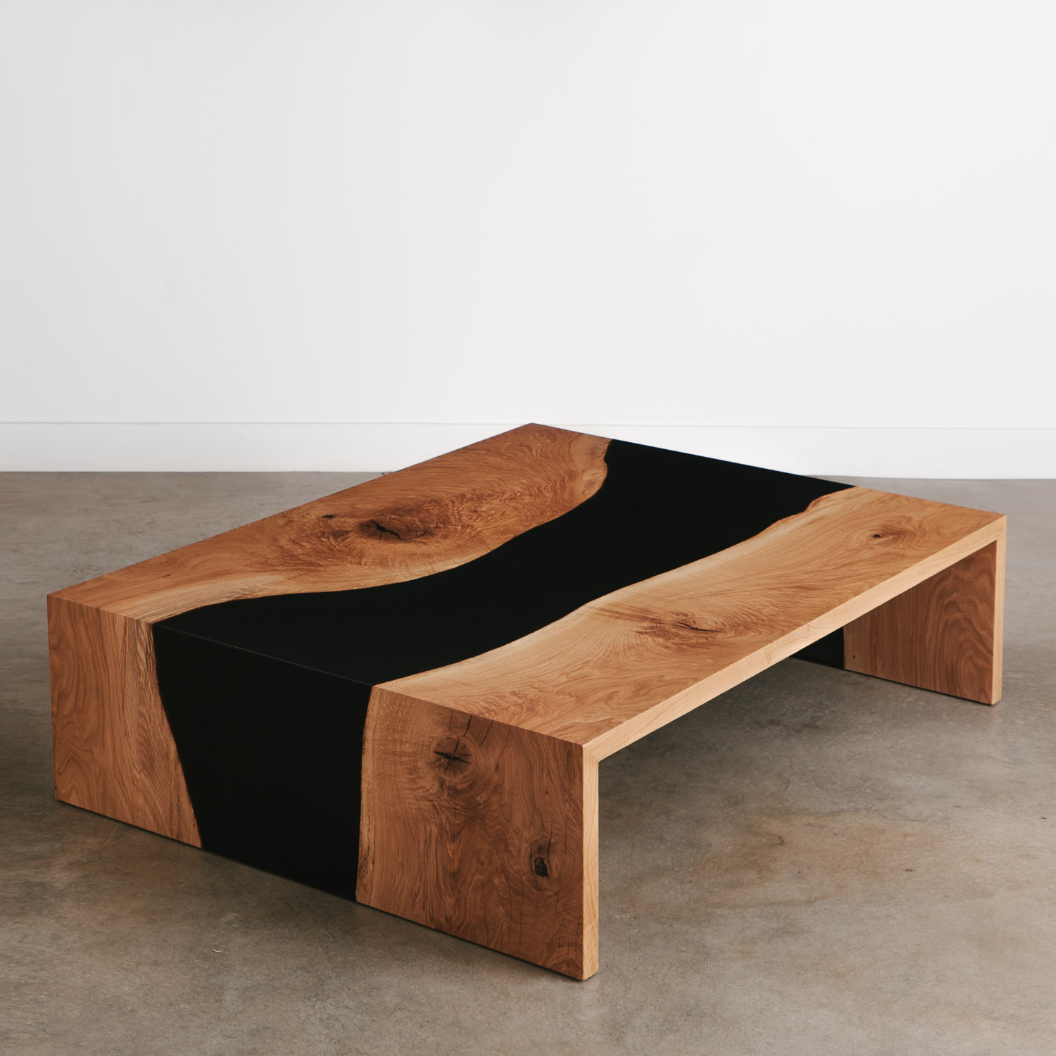 Picture of: Oak Coffee Table No 267 Elko Hardwoods Modern Live Edge Furniture Dining Coffee Tables Desks Benches