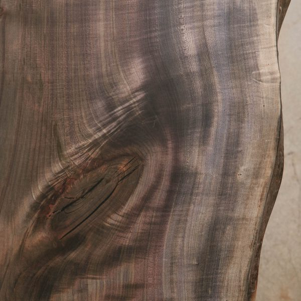 Detail of oxidized maple wood with live edge
